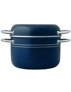 Batería de cocina 9 piezas Aluminio azul