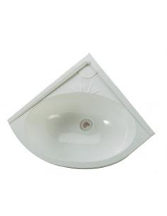 Lavabo triangular blanco