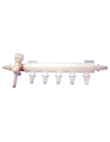 Distribuidor de agua 5 salidas + válvula evacuación